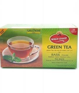 Wagh Bakri Green Tea With Basil Tea Bags 37.5g