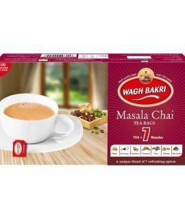 Wagh Bakri Masala Chai Tea Bags (100 Bags) - Special International Blend 200g