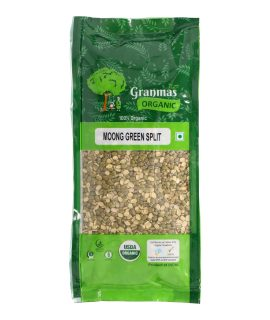 Grandmas Organic Moong Green Split 500g-1
