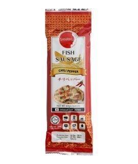 Sanriku Fish Sausage Chili Pepper - 60g x 3 pieces